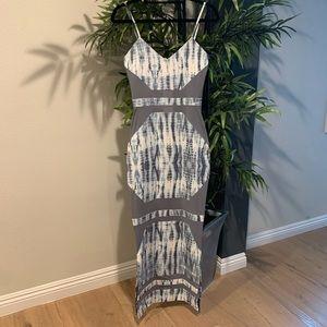 Tie Dye Mesh Stunning Maxi Dress